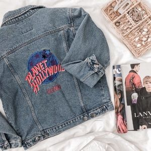 VINTAGE PLANET HOLLYWOOD RENO DENIM JACKET
